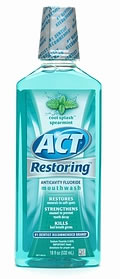 ACT Restoring Mthwsh 33.8 fl. oz.- Cool Splash Spearmint