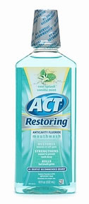 ACT Restoring Mouthwash 18 fl. oz.- Cool Splash Vanilla Mint