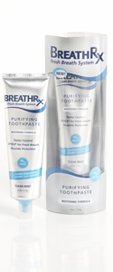 BreathRx Purifying toothpaste whitening formula
