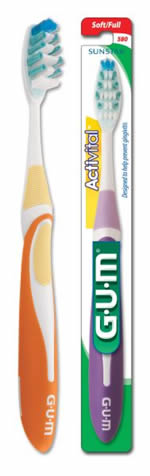 GUM Activital™ Toothbrush Compact Head Soft Bristle