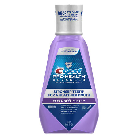 Crest Pro-Health Advanced Extra Deep Clean Mouthwash Clean Mint