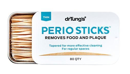 Dr. Tung's, Perio Sticks, Plaque Removers, Thin, 80 Sticks