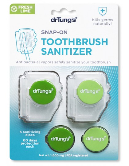 Dr Tung's Adult Snap-on Toothbrush Sanitizer