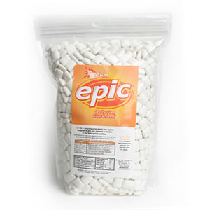 Epic Fresh Fruit Xylitol Gum. 100% Xylitol Sweetened Chewing Gum, Fresh Fruit Flavor Bulk pack 1000 ct bag