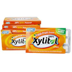 Epic Xylitol Gum Fresh Fruit 12 pieces
