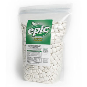 Epic Peppermint Xylitol Gum. 100% Xylitol Sweetened Chewing Gum, Spearmint Flavor bulk pack 1000 ct bag