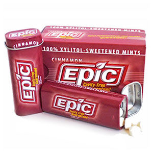 Epic Xylitol Cinnamon Xylitol Mints