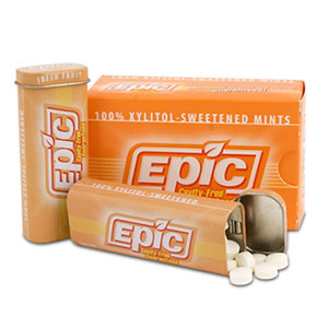 Epic Fresh Fruit Xylitol Mints. 100% Xylitol Sweetened Mints, Peppermint Flavor