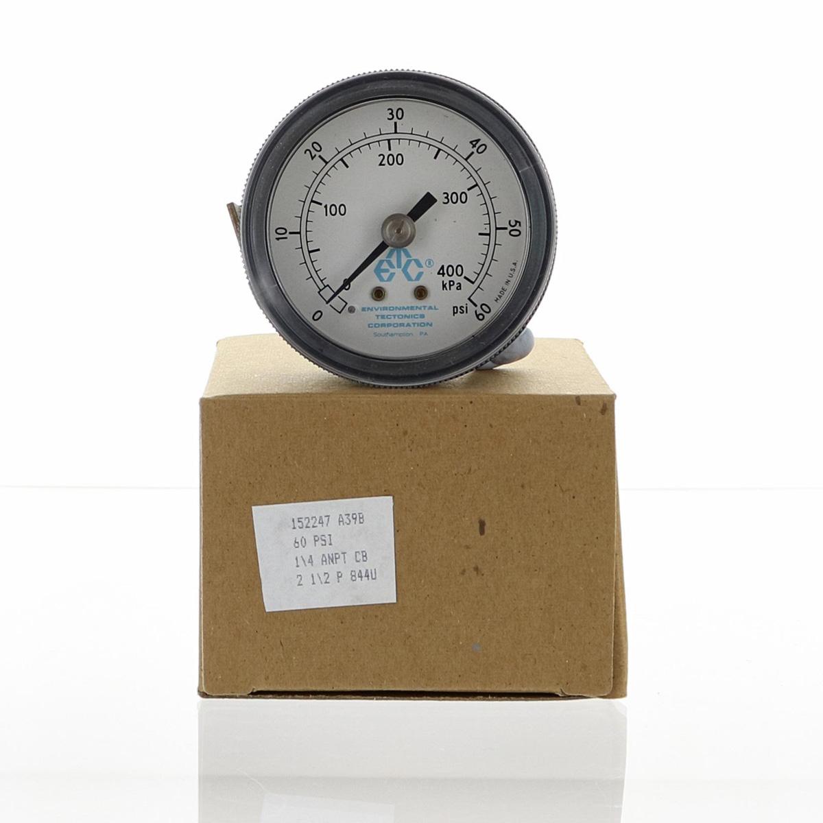60 PSI 0-400 kPa 2.5