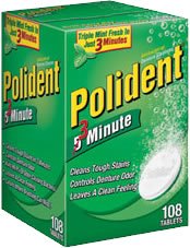 Polident 3 minute denture cleaner