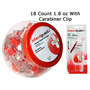 Infectiguard 18 Count 1.8 oz with Carabiner