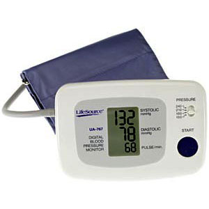 LifeSource UA-767 One Step Auto-Inflation Blood Pressure Monitor