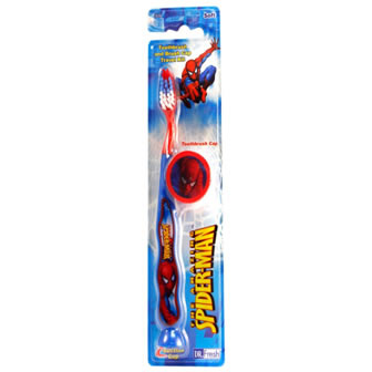 Spider-Man Toothbrush with suctin cup and 3d sticker