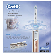 Oral-B Rose Gold GENIUS 9600 Black Rechargeable Electric Toothbrush with Bluetooth Connectivity