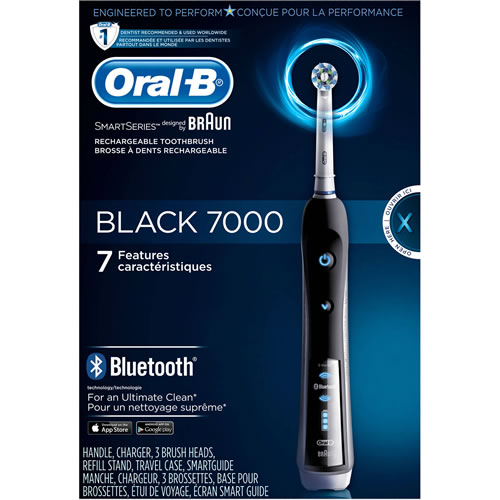 Oral-B Black 7000 SmartSeries Power Toothbrush with Bluetooth Technology