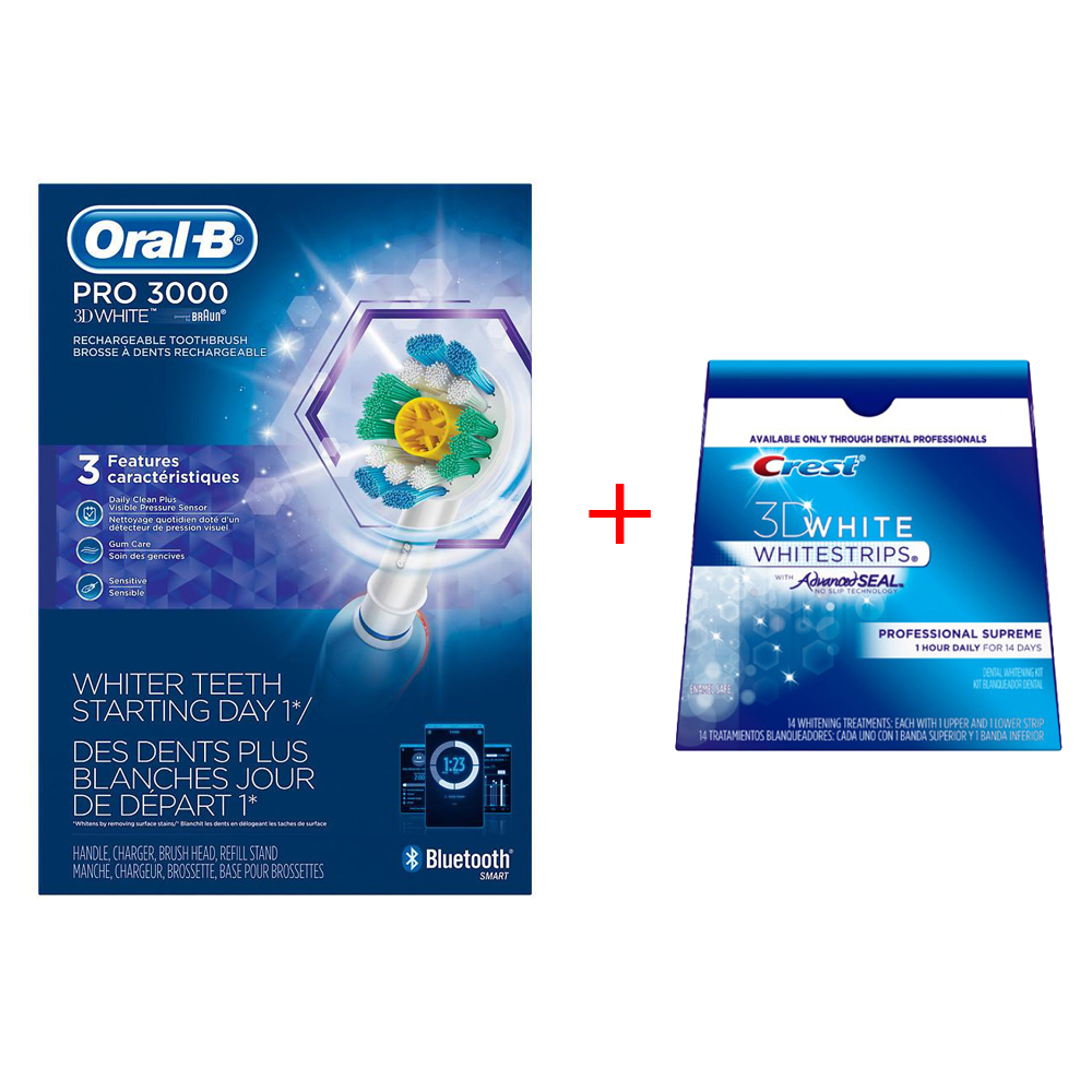 Oral-B PRO 3000 Power Toothbrush with Bluetooth Connectivit