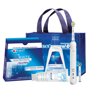 Oral-B Pro 3000 Whitening Power System Bluetooth Connectivity with 3 D Whitestrips