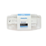 Philips Zoom DayWhite 14% hydrogen peroxide Box of 10 3-syringe refill packs.