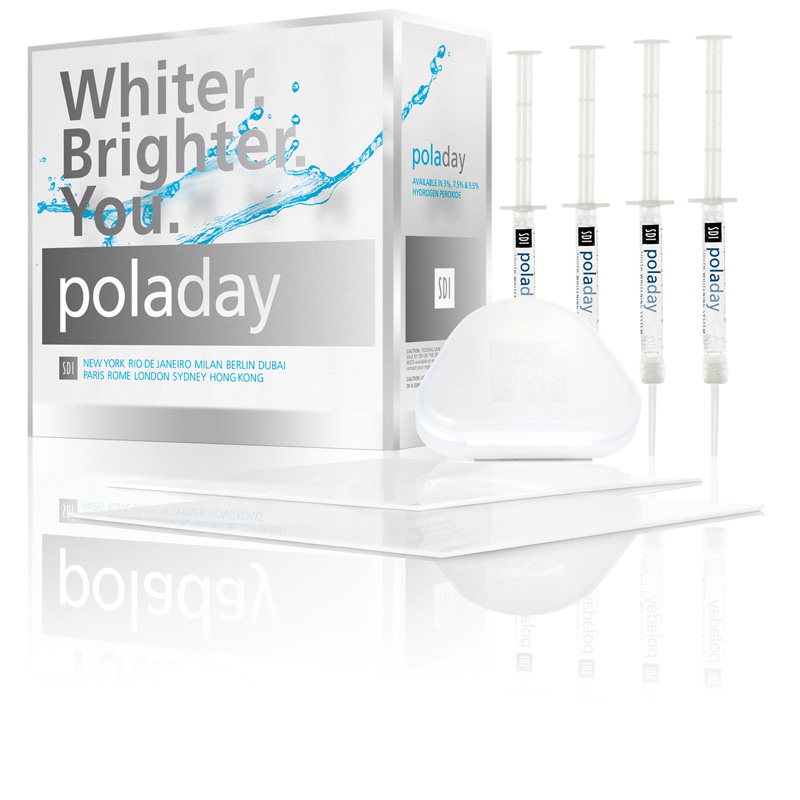 Pola Day Advanced Tooth Whitening System 9.5% Hydrogen Peroxide Gel 10 X 1.3g Syringe Kit