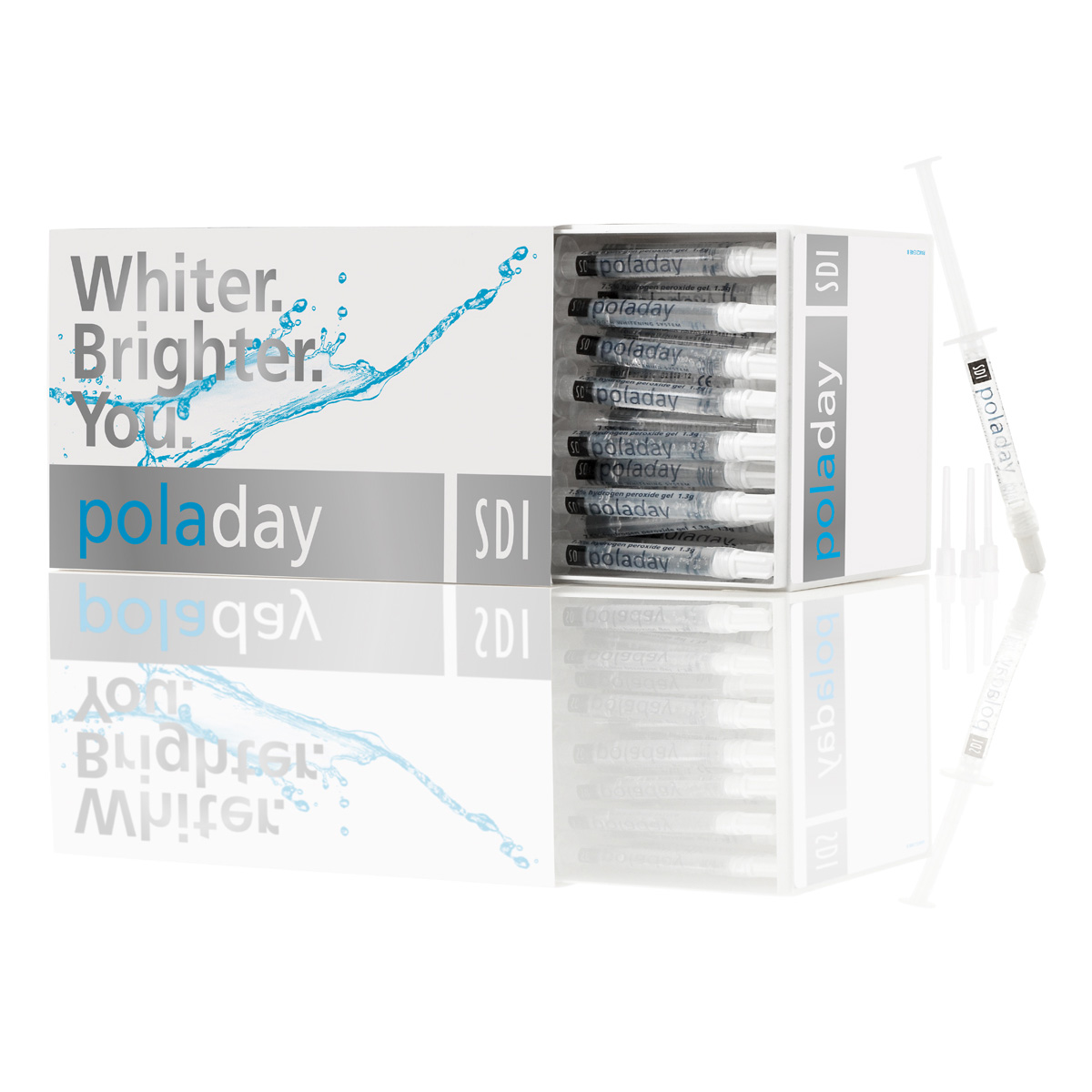 Pola Day Advanced Tooth Whitening System 9.5% Hydrogen Peroxide Gel 50 X 3g Bulk Kit