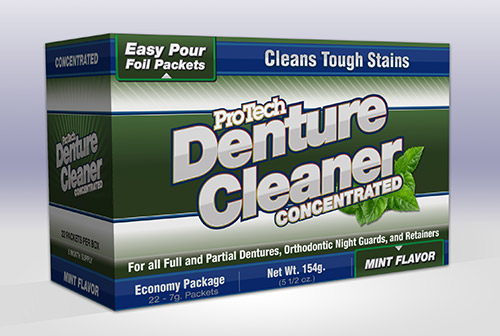 ProTech Concentrated Denture Cleaner 22 packets per box