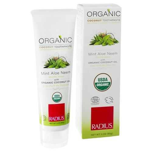 Radius Organic Coconut Toothpaste - Mint Aloe Neem