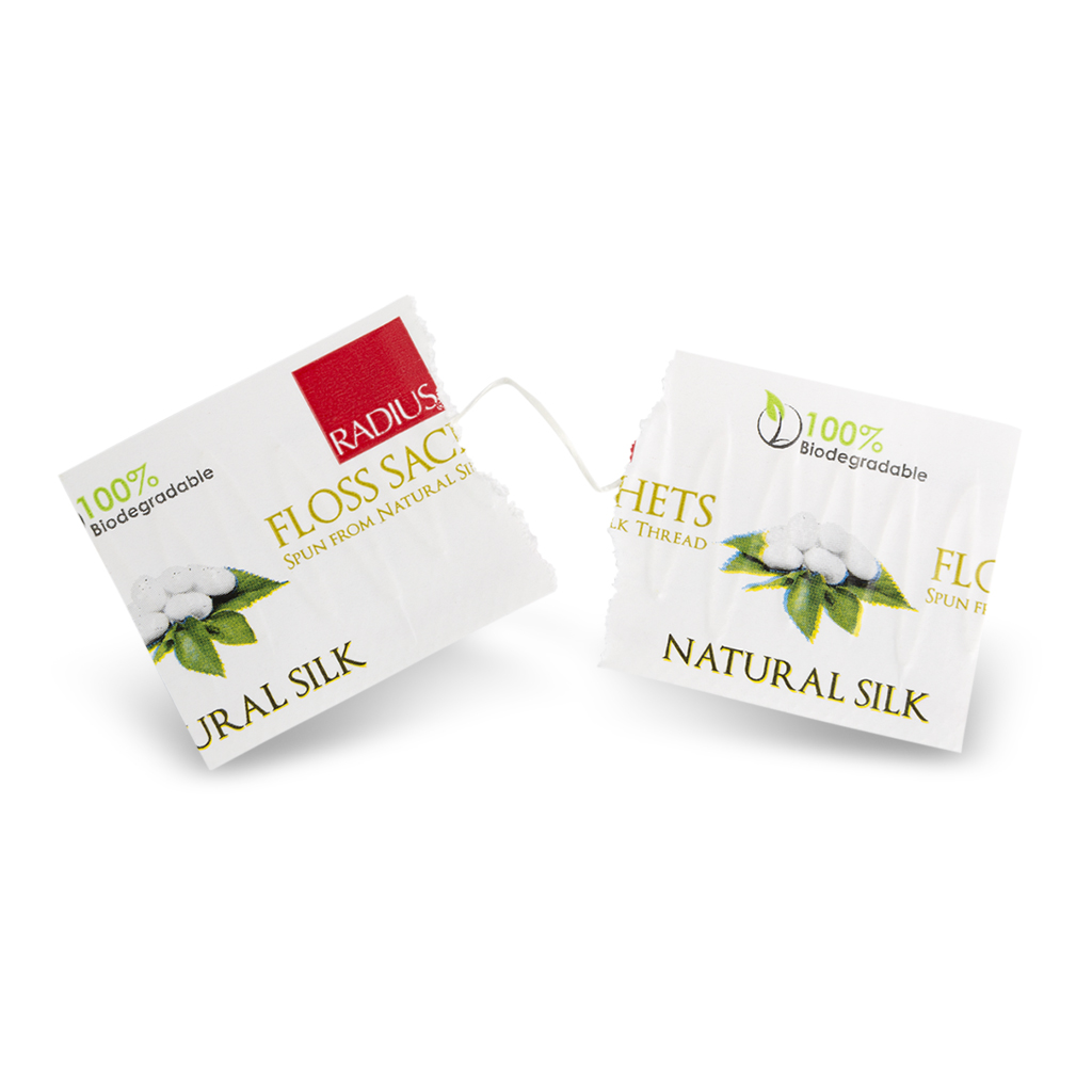Radius Natural Biodegradable Silk Floss Sachets
