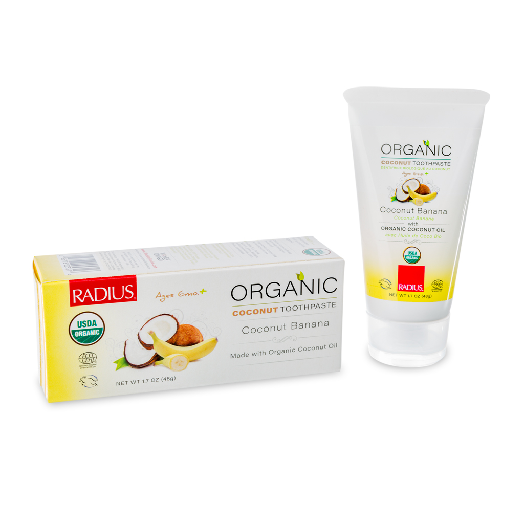 Radius Organic Children's Toothpaste Coconut Banana 1.7 oz