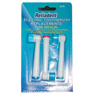 Reliadent brush heads