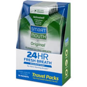 SmartMouth 12 Hour On-the-Go Mouthwash Packets, Fresh Mint
