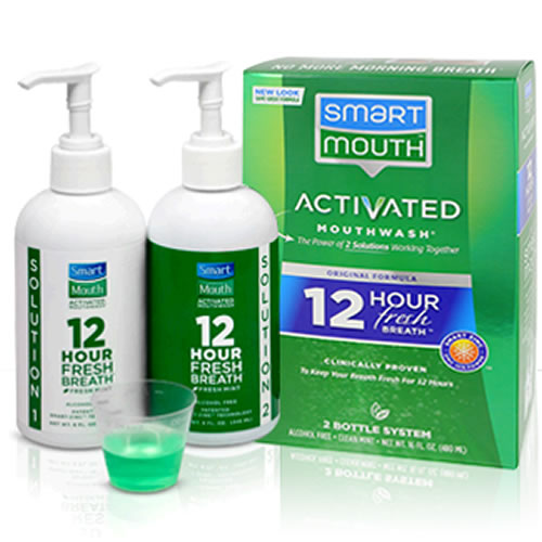 Smart mouth breath cure rinse system