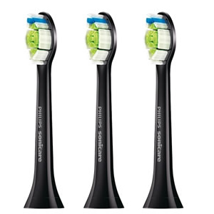 Sonicare DiamondClean Standard Sonic toothbrush heads 3 pack Black Edition