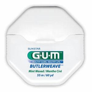 Butler GUM ButlerWeave Floss Waxed Mint 60yd 1855M