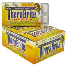 TheraBrite Whitening Gum box