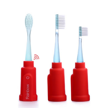 Rainbow Smart Toothbrush by Vigilant Red