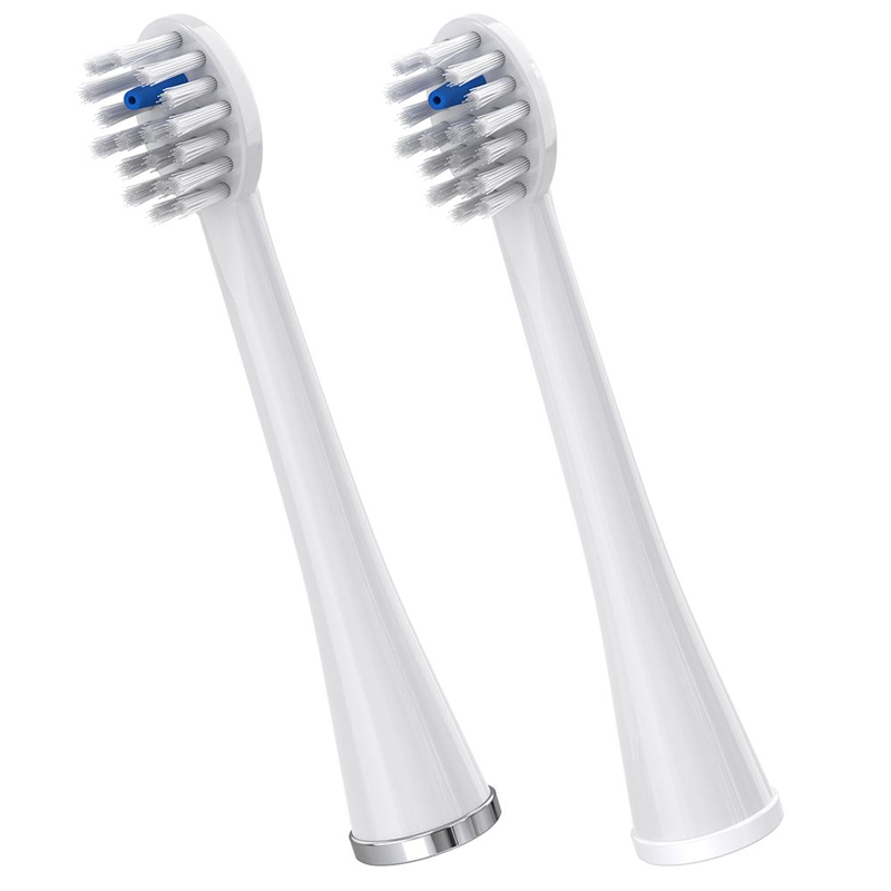 Waterpik Replacement Brush Heads for Sonic-Fusion Flossing Toothbrush SFRB-2EB, 2 Count Black